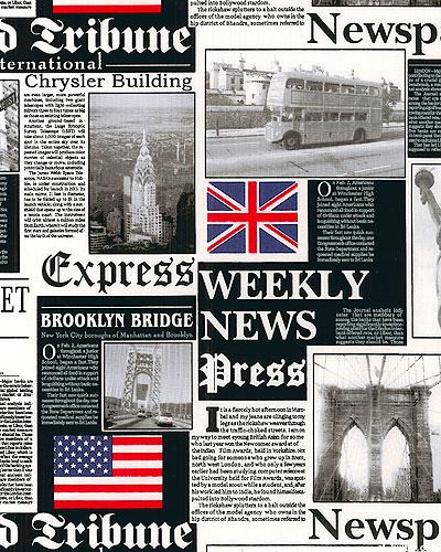 London Bridge - Tribune, Times, Express - Black