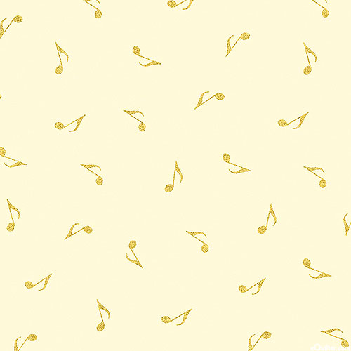 Metallic Mixers - Eighth Note Shimmer - Cream/Gold