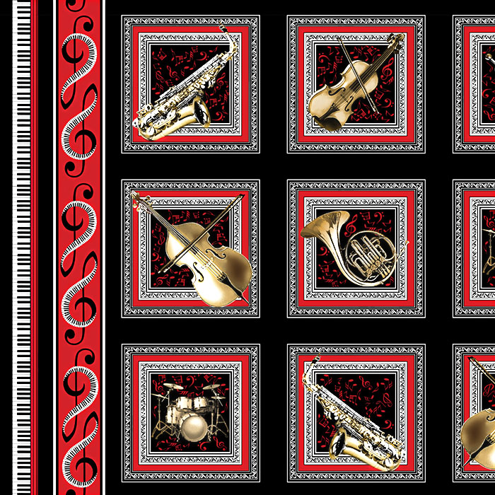 "Musical Moments - Classical Instrumentation - 24"" x 44"" PANEL"