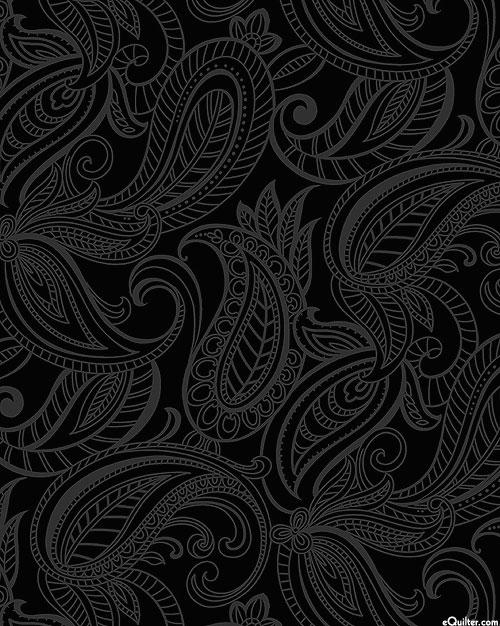 Night & Day 2 - Paisley - Black/Gray