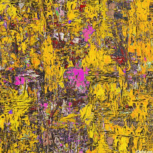 Poured Color - Impressions - Saffron