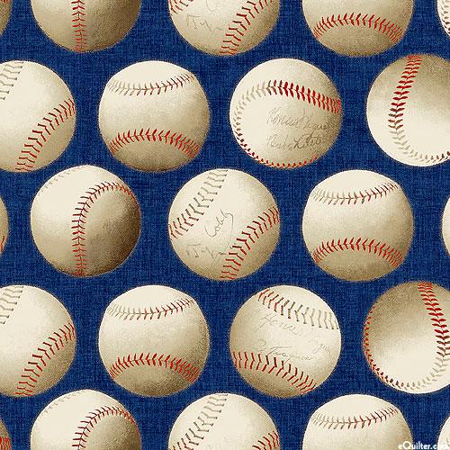 Game Time - Signed Baseballs - Navy Blue