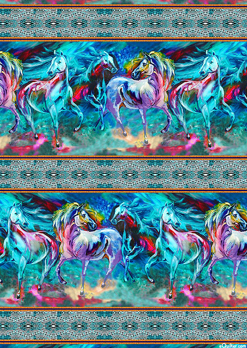 Color Your World With Horses - Canter Stripe - Multi