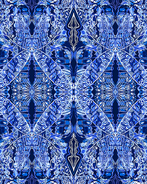 Artful Snowflake - New Wings - Navy Blue/Silver