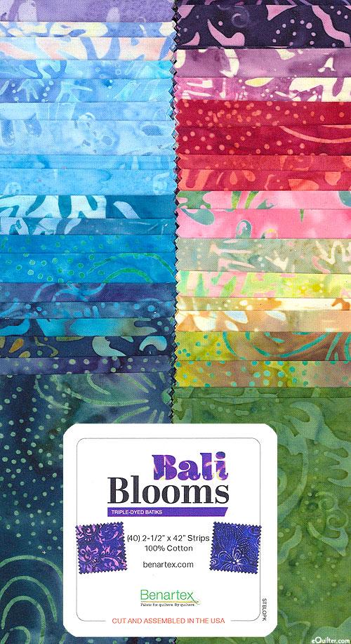"""Bali Blooms Batiks - 2 1/2"""" Strips"""