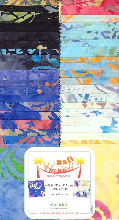 "Bali Hawaii Batiks - 2 1/2"" Strips"