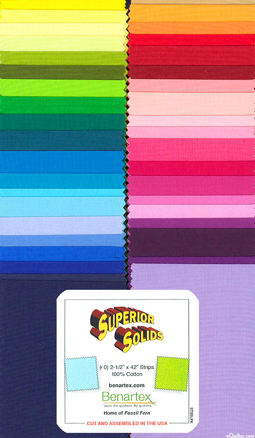 "Superior Solids - Spectrum Sampler - 2 1/2"" Strips"