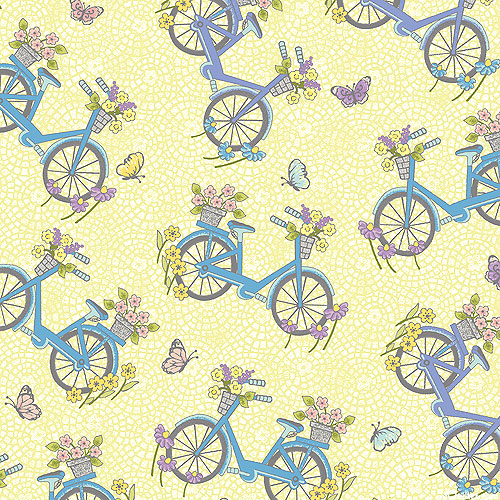 Butterfly Garden - Flower Garden Bicycles - Lemon Chiffon