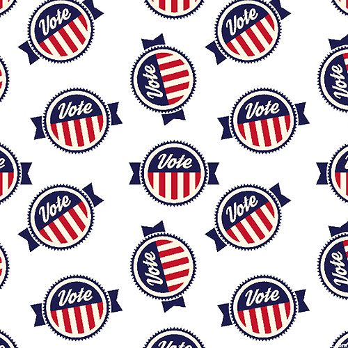 AMERICA Your Vote Counts - Election Day Buttons - White
