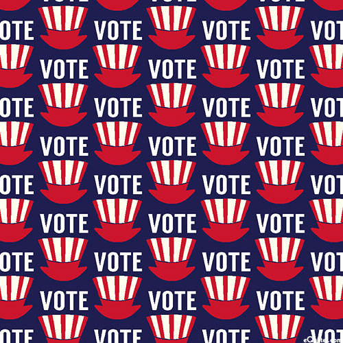 AMERICA Your Vote Counts - Vote with Uncle Sam - Navy Blue