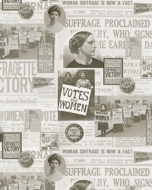 AMERICA Your Vote Counts - Suffragette Victory - Pale Gray