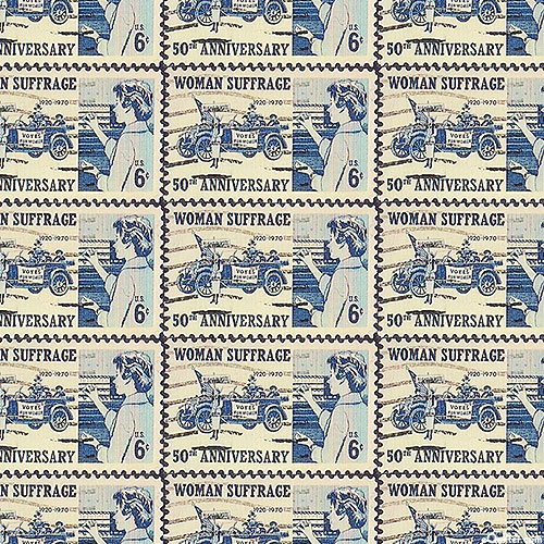 Votes for Women - 50th Anniversary Stamp - Blue - DIGITAL PRINT