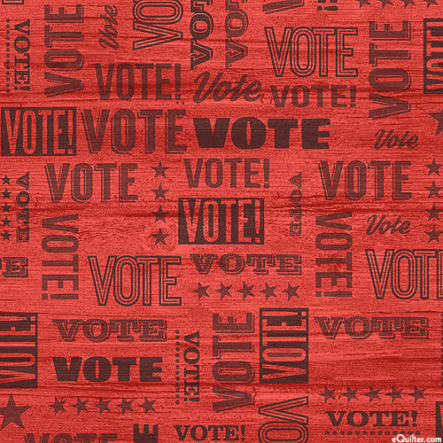 Your Vote Counts - Election Season - Scarlet Red