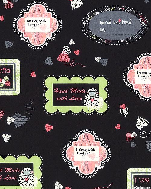 Wool Ewe Be Mine - Knitting Labels - Pink/Black