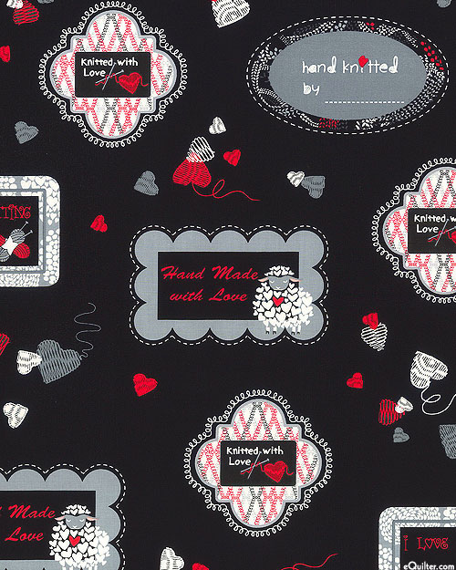 Wool Ewe Be Mine - Knitted Labels - Red/Black