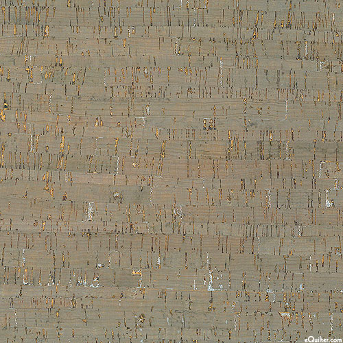 """Cork Fabric - Taupe/Silver - 18"""" x 15"""" Roll"""