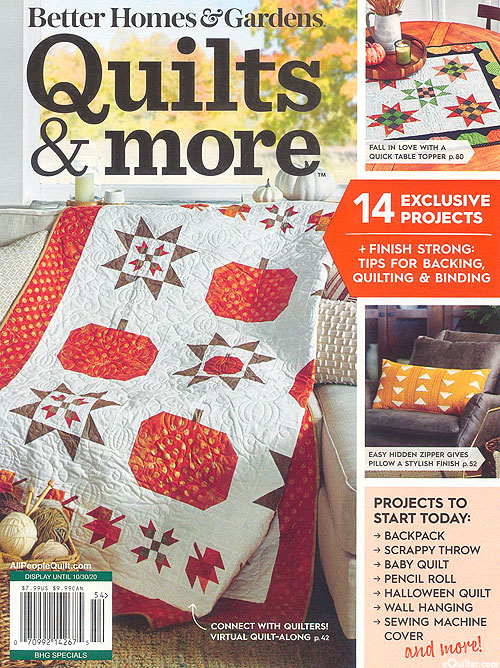 Better Homes & Gardens - Quilts and More - Fall 2020
