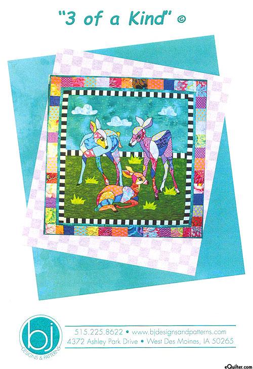 3 Of A Kind - Applique Pattern by Barbara J. Jones