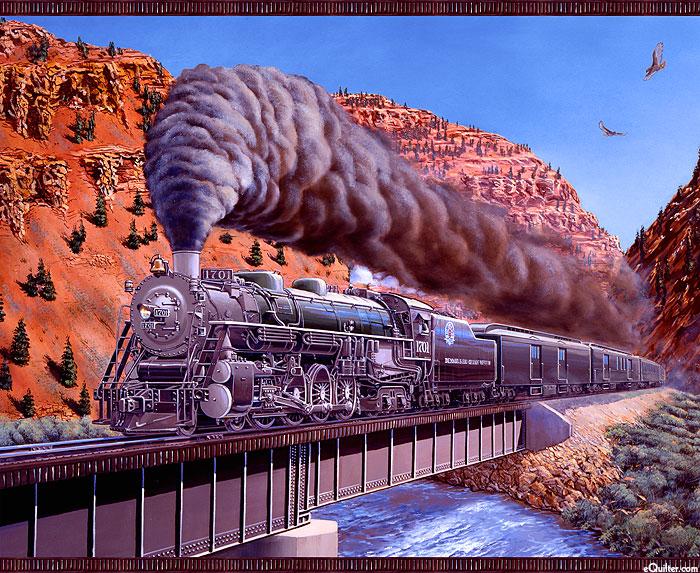 "Express Tracks - Train Adventure - Multi - 36"" x 44"" PANEL"