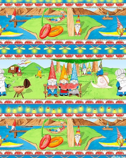 Hanging With My Gnomies - Summertime Stripe - Multi