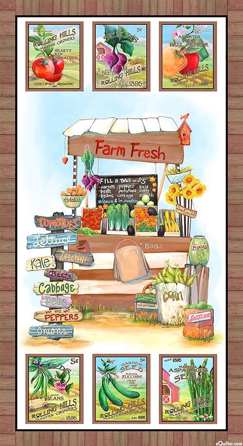 """Blissful Bounty - Farm Fresh - 24"""" x 44"""" PANEL - DIGITAL"""