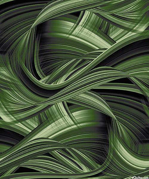 "Sedona Wave - Pine Green - 108"" QUILT BACKING"