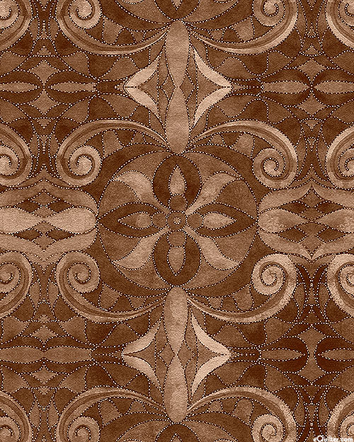 """Baroque - Sable Brown - 108"""" QUILT BACKING"""