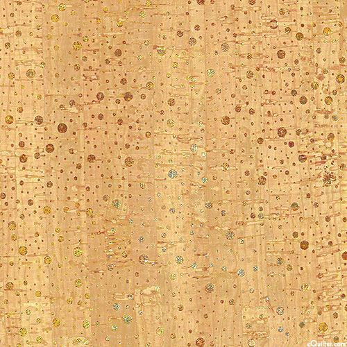 "Cork Shimmer - Natural/Mixed Metals Metallic - 53"" WIDE"