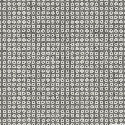 Lofi - Mod Shibori Dots - Charcoal Gray