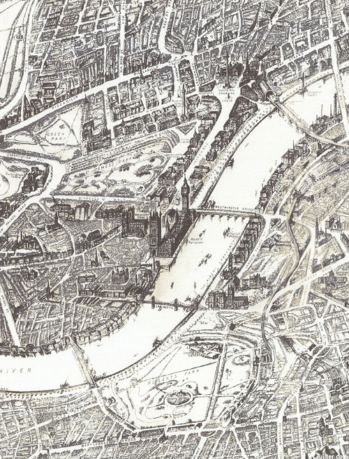 London - Map of the Thames - Ivory