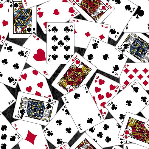 Man Cave - Playing Cards - Black