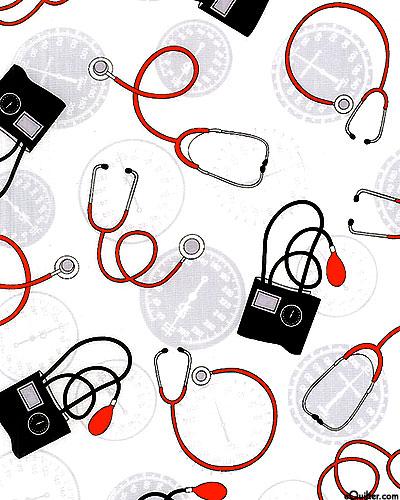 Calling All Nurses - Stethoscope - White