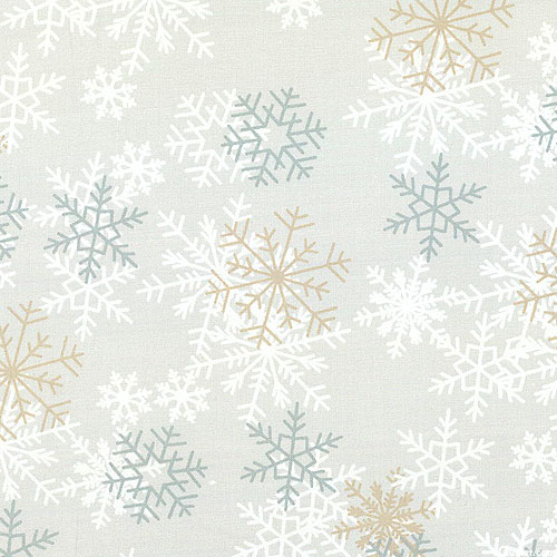 "Blizzard of Snowflakes - Fog Gray - 108"" QUILT BACKING"