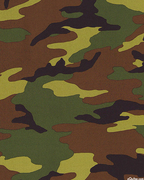 "Deep Forest Camouflage - Dk Green - 108"" QUILT BACKING"
