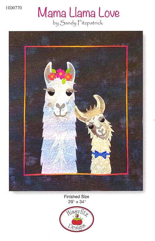 Mama Llama Love - Appliqué Pattern by Sandy Fitzpatrick