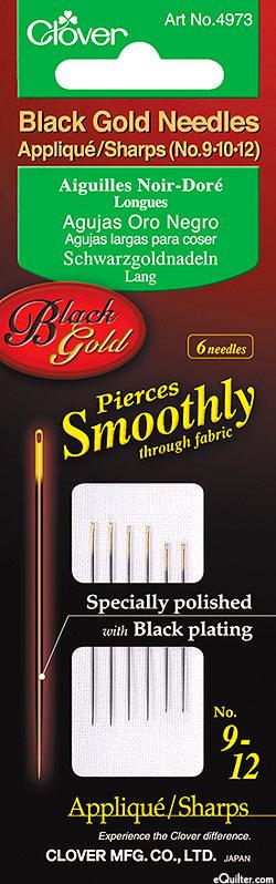 Black Gold Appliqué/Sharps Needles - No. 9, 10, 12