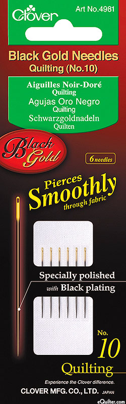 Black Gold Quilting Needles - No. 10