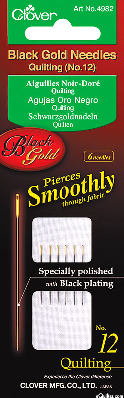 Black Gold Quilting Needles - No. 12