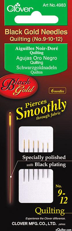Black Gold Quilting Needles - No. 9, 10, 12