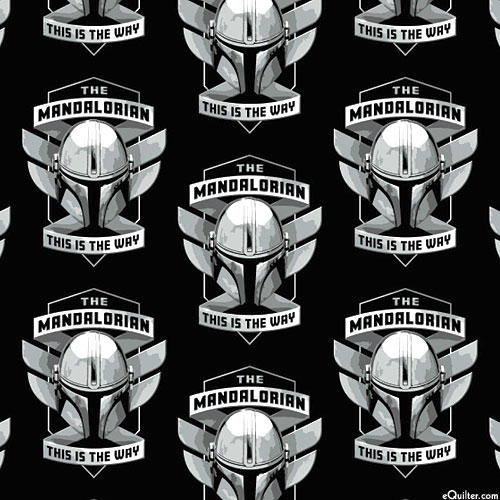 Mandalorian II - Mando Helmet Badge - Black