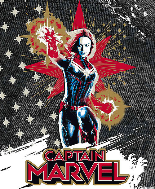 "Captain Marvel - Star Power - 36"" x 44"" PANEL"