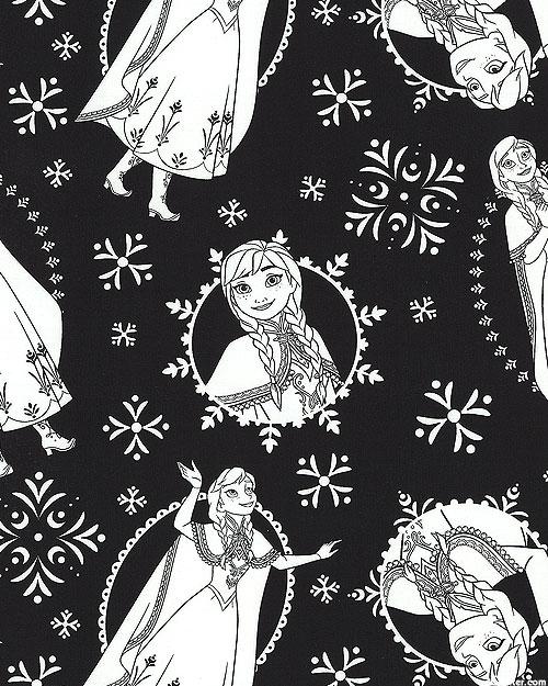 Frozen Coloring - Frozen Anna - Black