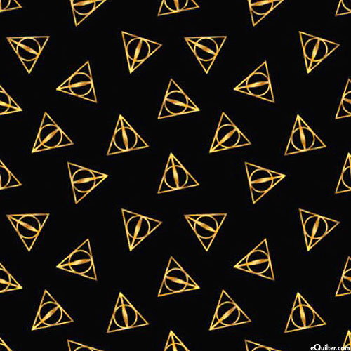 Harry Potter - Sign of the Deathly Hallows - Black/Gold