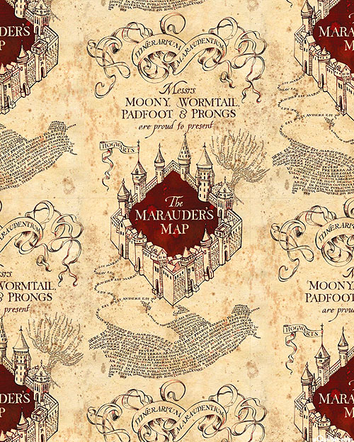 Harry Potter - The Marauder's Map - Sandstone