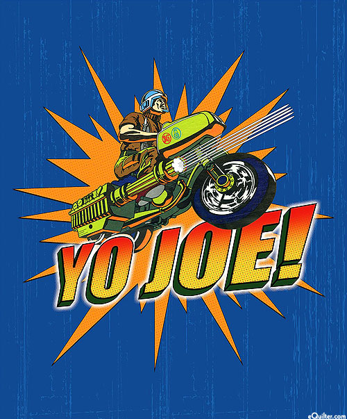 "G.I. Joe Adventure - Royal Blue - 36"" x 44"" PANEL"