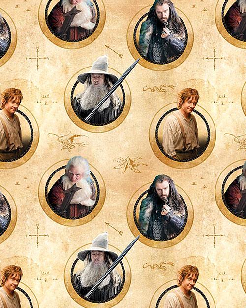 The Hobbit - Unexpected Journey Characters - Parchment - DIGITAL