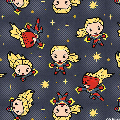 Kawaii Marvel - Captain Marvel in Action - Smoke Gray