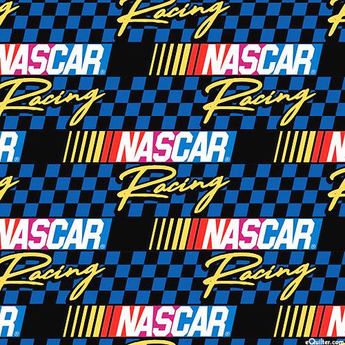 Nascar - Retro Nascar Logos - Royal Blue