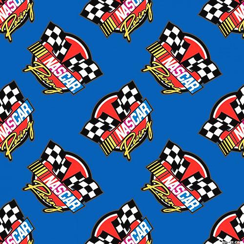 Nascar - Retro Racing Flags - Royal Blue