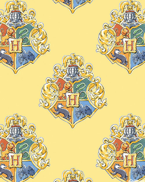 Harry Potter - Watercolor Crest - Soft Yellow